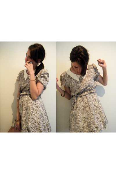 beige puff and stuff dress