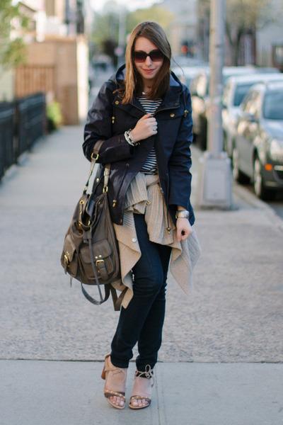 navy VIGOSS USA jeans - navy Mia Melon jacket - heather gray backpack Maiko bag