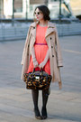 Brown-lepoard-nine-west-shoes-orange-lamour-by-nanette-lepore-dress
