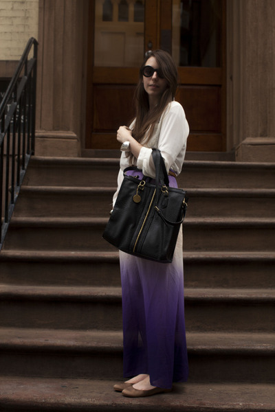 light purple ombre maxi Sugarlips Apparel skirt - black r&em bag