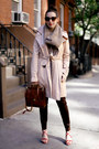 Brown-knit-shui-chen-new-york-scarf-beige-trench-gap-coat