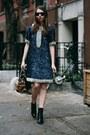 Navy-sequin-candela-dress-black-coye-nokes-boots