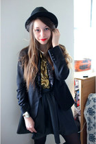 black fedora Urban Outfitters hat - black sequin Tallulah Sunrise blazer