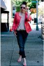 Navy-silver-jeans-co-jeans-hot-pink-charles-gray-london-jacket-tan-h-m-shirt