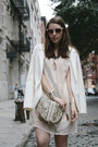 Cream-h-m-dress-white-h-m-blazer-heather-gray-remi-emmy-bag