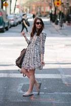 white zebra print Valentine Gauthier dress - heather gray backpack Maiko bag