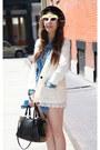 Yellow-puma-flats-black-fedora-urban-outfitters-hat-white-h-m-blazer
