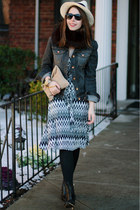Coye Nokes boots - Leota NY dress - panama JCrew hat - Quiksilver jacket