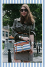 Navy-striped-h-m-dress-army-green-charlotte-russe-jacket