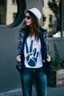 Blue-silver-jeans-co-jeans-eggshell-stetson-hat-navy-printed-zara-blazer