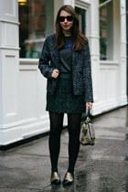 gray JCrew skirt - black Sugarlips jacket - heather gray brahmin bag
