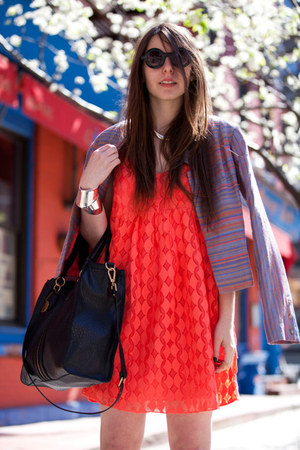 Addison blazer - Addison dress - r&em bag - round asos sunglasses