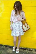 Forever 21 shirt - Dooney & Bourke vintage bag - vintage skirt - vintage accesso