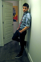 Aldo shoes - H&M jeans - thrifted shirt - christian dior tie