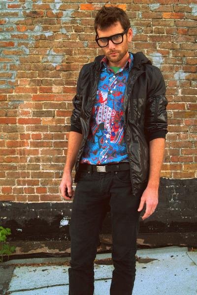 Urban Outfitters glasses - Target jeans - vintage Wrangler shirt - H&M jacket