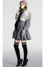 Gray-louis-vuitton-coat-black-socks-black-shoes