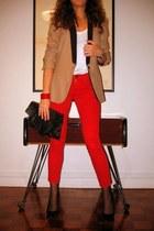Zara jeans - Zara blazer - asos bag - Zara heels