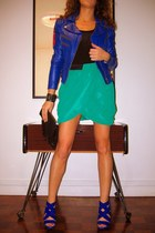 Bebe jacket - asos bag - H&M skirt - Zara heels