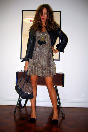 Zara dress - Oakwood jacket - Zara heels - c&a necklace
