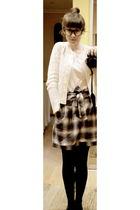 GINA TRICOT skirt - white H&M cardigan