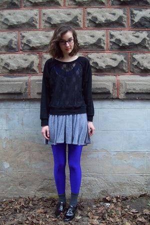 gray no name socks - black American Apparel shoes - gray American Apparel dress