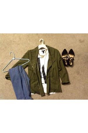 olive green Forever 21 jacket