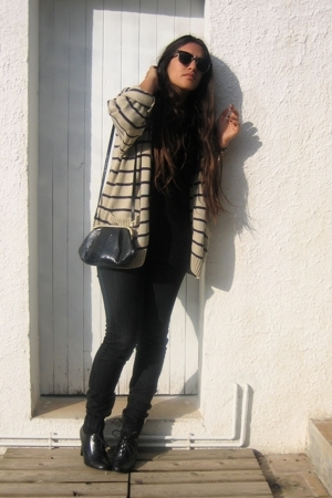 Yves Saint Laurent sweater - Zara t-shirt - Zara jeans - Promod shoes - thrifted