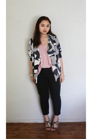 black black skinny Forever 21 pants - blue Topshop jacket