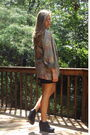 Black-forever-21-shoes-green-vintage-blazer-black-walmart-dress