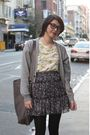 Gray-cardigan-skirt-sally-jane-vintage-blouse