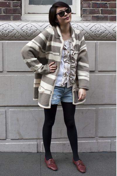 cardigan - H&M shorts - Urban Renewal blouse
