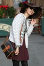 Mango-coat-zara-shirt-skirt-kookai-cardigan-dooney-bourke-accessories-