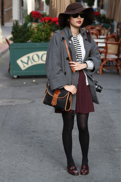vintage skirt - vintage loafers Bruno Magli shoes - slouchy Mango coat