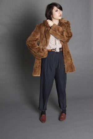 coat - pants - Held Over blouse