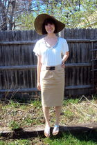 white Michael Kors shirt - Ralph Lauren skirt - J Crew accessories