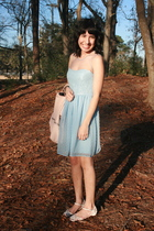 blue Rodarte for Target dress - white payless shoes - pink zipia purse - blue St