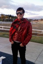 salvation army jacket - v fraas scarf - unknown brand sunglasses - Anchor Blue j