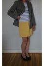 Gray-unknown-t-shirt-yellow-banana-republic-skirt-black-born-shoes