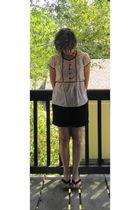 beige H&M shirt - black Blass shorts - shoes