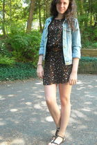 denim Gap jacket - black vintage dress