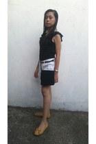 black the sak bag - white Harvard Jeans USA shorts - black top