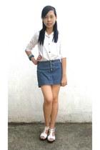navy xhilaration skirt