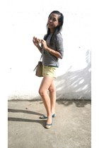 light yellow shorts - white calvin klein top