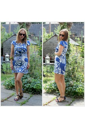 blue Primark sandals - shift Persun Mall dress