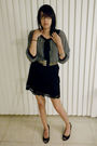 Gray-charlotte-russe-blouse-black-xhilaration-from-target-skirt-gray-unknown