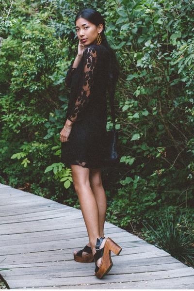 Show Me Your Mumu dress - Cleobella bag - Kelsi Dagger heels