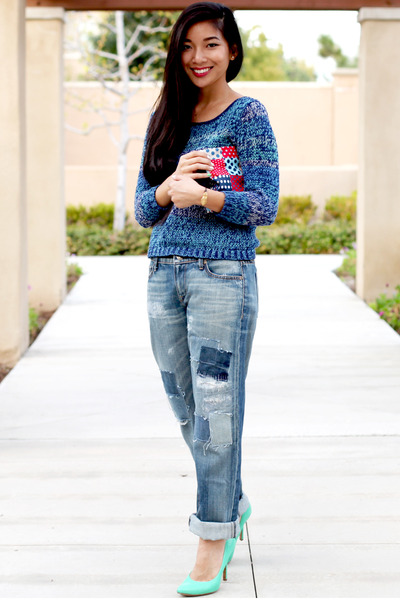 Fidelity Denim jeans - Left on Houston sweater - Cole Haan heels