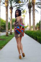 bag - shorts - wedges