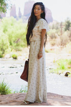 Rae Francis dress - Kelsi Dagger bag - Koolaburra sandals