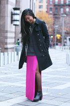 Burberry coat - Urban Outfitters dress